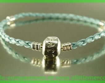 love for leather N105 European Bead Bracelet 20cm charms