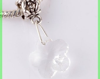 bail N68 clover European spacer bead for bracelet charms