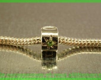 Pearl N25 clip stopper European blocker rhinestones for charms bracelet