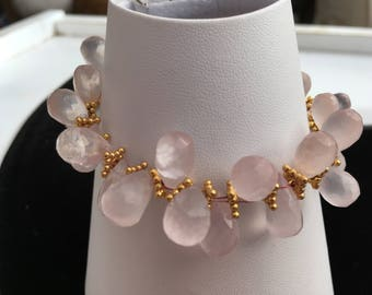 Rose Quartz 'Goddess' bracelet