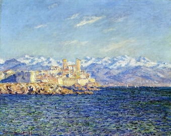 ORIGINAL design, durable and WASHABLE PLACEMAT - - Claude Monet - impressionist painters Antibes afternoon effect - classic.