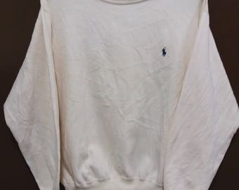 Vintage POLO RALPH LAUREN sweatshirt Colour Cream crewneck small size