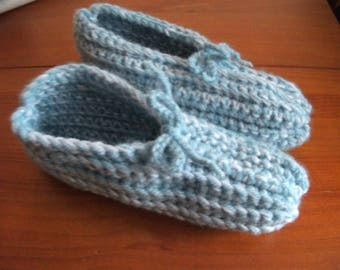 Crochet adult size slippers baby booties