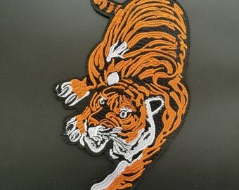 Tiger Patch Full Embroidered Tiger Iron on Patches,Embroidery Tiger Patch,Tiger iron on Patch,Animal patch,Tiger Embroidered patch-PSL14