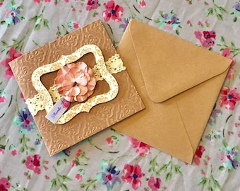 Paper Flower Thank You Card