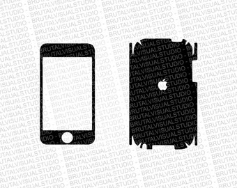 iPod Touch First GEN Skin template for cutting or machining - Digital Download | Plotters, CNCs, Laser cutters, Silhouette Cameo, Cricut