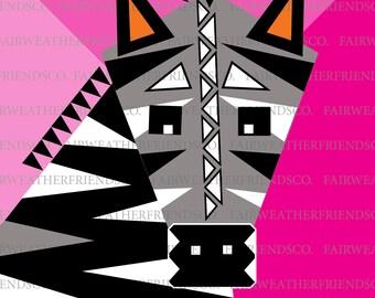 Zany Zebra (FRAMED PRINT)