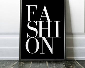 Fashion Poster | Fashion Print | Vogue Print | Vogue Printable | Fashion | Fashion Decor | Wall Art | Home Decor
