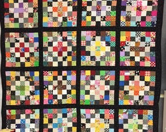 Quilt, patchwork, large, pieced, quilted