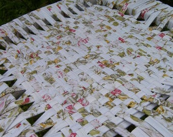 Chair grey floral woven Ribbon
