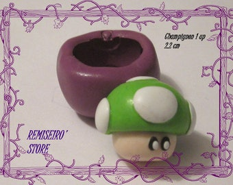 Mold mushroom 1 up mario silicone for creation