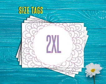 Size Tags Cards, , Size Sign, 5x7 inches. Sizing Cards, Consultants. Instant Download