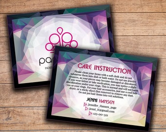 Paparazzi How to care jewelry Cards, Paparazzi care card Paparazzi thank card Paparazzi jewelry Paparazzi business marketing printable