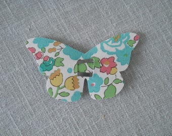 Hair clip Butterfly Click Clack liberty betsy Green