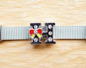 bead width letter H alphabet for bracelet