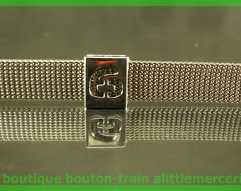 bead width number 6 perforated aluminum number number for bracelet