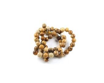 20 LBP00118 6mm natural Jasper beads