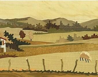 marquetry basque landscape