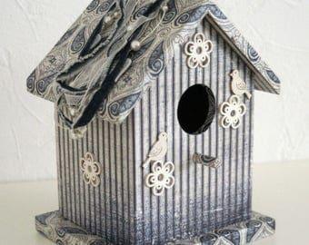 "Decorative birdhouse ""Blue cabin"""