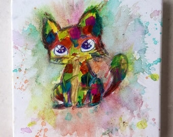 Acrylic Painting of cat