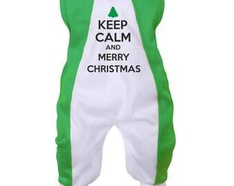 Christmas Baby onesie: Keep Calm and Merry Christmas