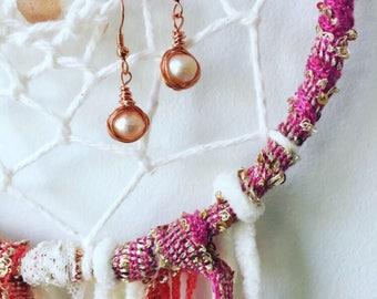 Fresh Water Pearl Wrap Earrings
