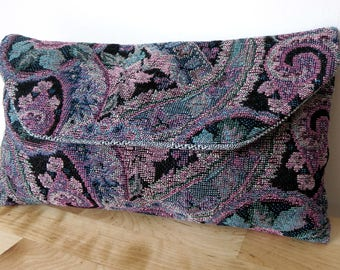 Upcycled Clutch Bag, Handmade, One of a Kind