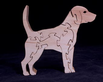 Wooden Free-Standing Beagle Dog Puzzle