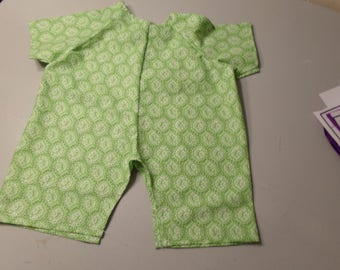 Green romper  for real baby