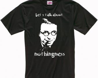 Jean-Paul Sartre 'Nothingness' Men's Women's T-shirt