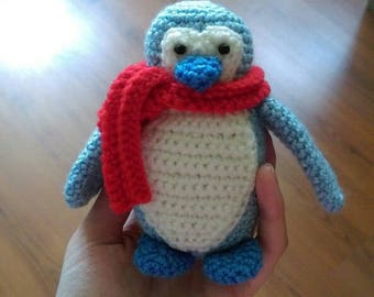 Penguin soft crochet toy - toys for gift - baby toy - crochet - amigurami toy