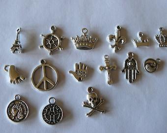 set of 15 charms