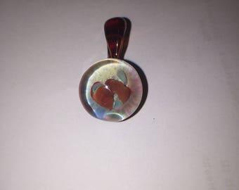 Handmade Glass Implosion Pendant