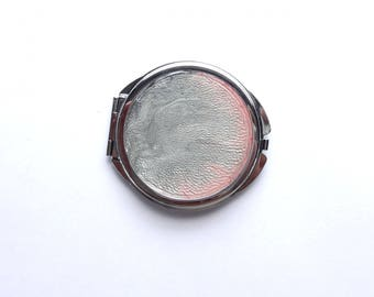 Pink and gray Pocket mirror