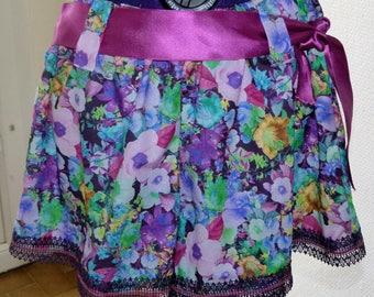 Floral cotton shorts size S