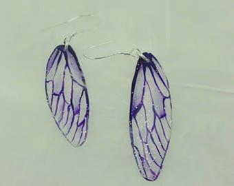 Earrings Silver 925 fairy wings