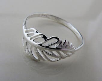 Sterling Silver  Feather  Ring , Feather Ring, Silver Angel Feather Ring, Gift For Women, Gift for Her