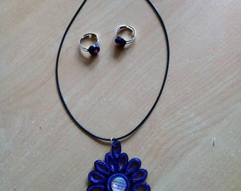 Necklace and its adjustable 2bagues