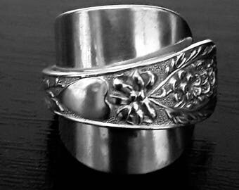 Solid Silver Victorian Spoon Ring