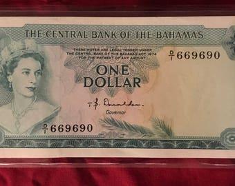 Bahama One Dollar, CU, P-35a