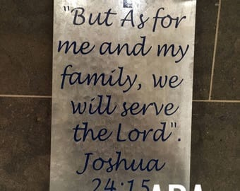 But as for.. Joshua 24:15