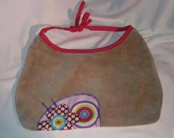 Soft velvet fabric bibs