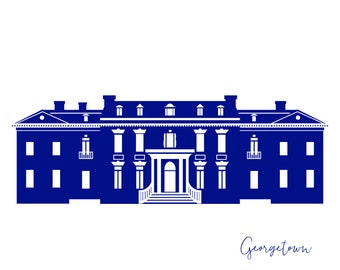 Washington DC Georgetown Dumbarton House Card A2