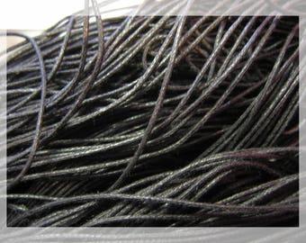 Waxed cotton black X 8 M