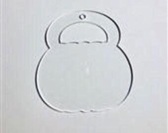 Halloween Bucket Blank Acrylic Keychain