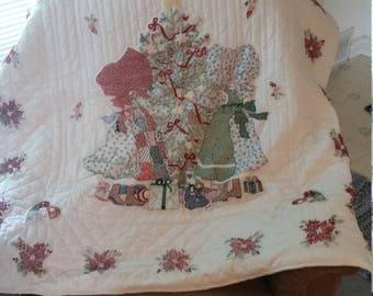 Christmas cross stitch quilt
