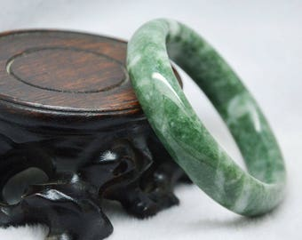 Beautiful Natural Chinese jade hand-carved bracelet bangle 60mm