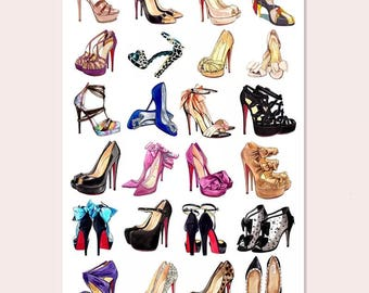 Classic High-heeled shoes stickers