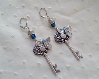 Earrings steampunk with butterflies