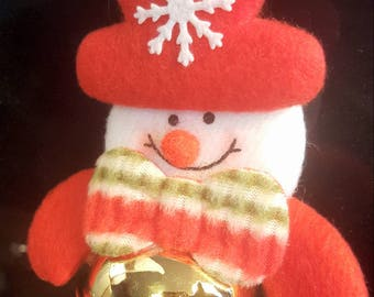 Snowman with bell Christmas decoration